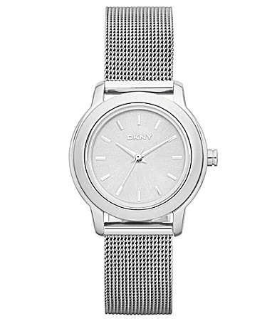 DKNY Ladies Silver Mesh Bracelet Watch