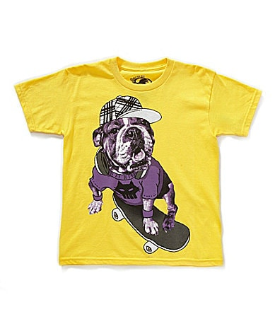 First Wave 2T-7 Skater Dog Screenprint Tee