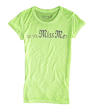 Miss Me Girls 7-16 Do You Miss Me Tee