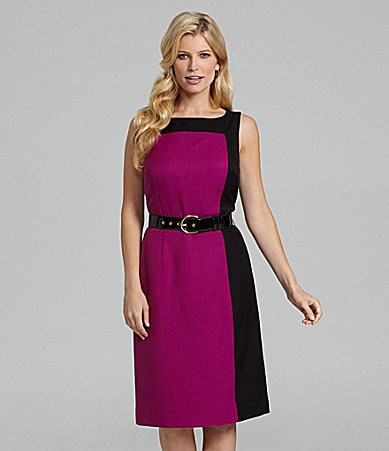 Preston & York Dawn Belted Colorblock Sheath Dress