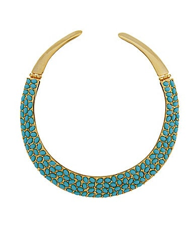 Kenneth Jay Lane Turquoise Collar Necklace