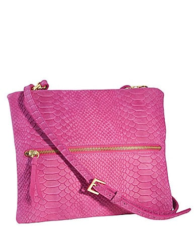 Gigi New York Embossed Python Crossbody Clutch