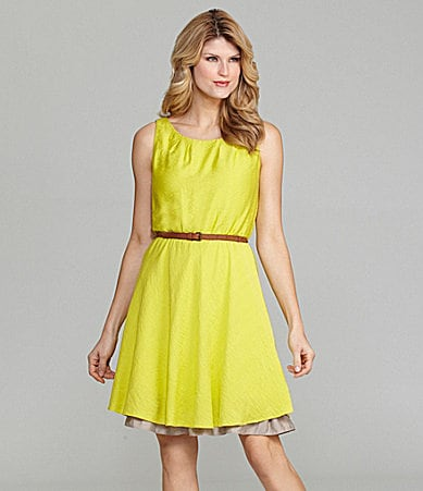 Antonio Melani Katsuna Sleeveless Belted Dress