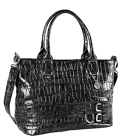 Big Buddha Sally Faux Croc Tote