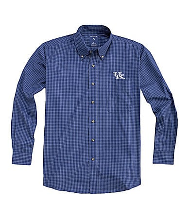 Antigua University of Kentucky Esteem Plaid Sportshirt
