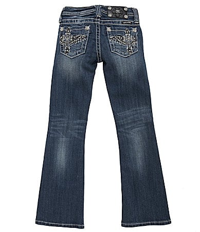 Miss Me Girls 7-16 Embellished Wing-Cross Bootcut Jeans