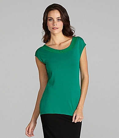 Vince Camuto Mixed Mesh Top