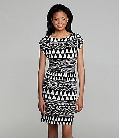 Vince Camuto Tribal-Print Dress