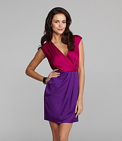 Vince Camuto V-Neck Colorblock Dress