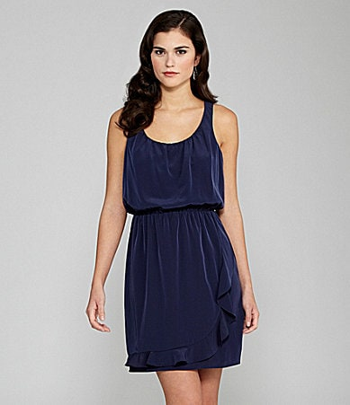 Gianni Bini Chloe Racerback Ruffle-Skirt Dress