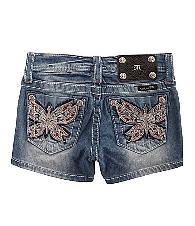 Miss Me Girls 7-14 Butterfly Pocket Shorts