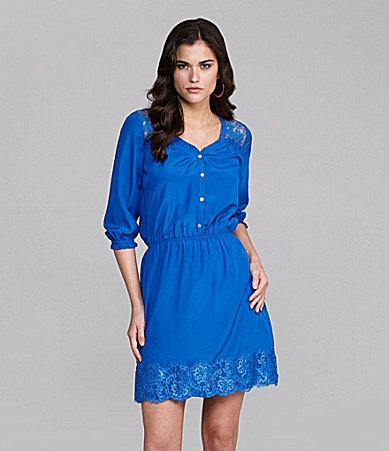 Gianni Bini Kat Lace-Trim Dress