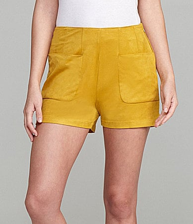 Gianni Bini Hyia Suede-Look Shorts