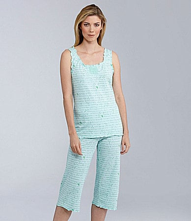 Sleep Sense Beachy Smocked Tank & Capris