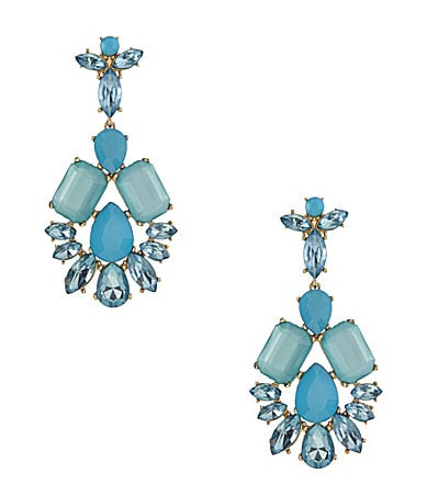 Natasha Accessories Glam Chandelier Earrings