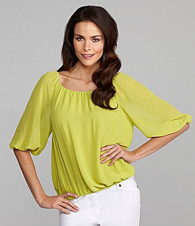 Vince Camuto Bright Peasant Blouse
