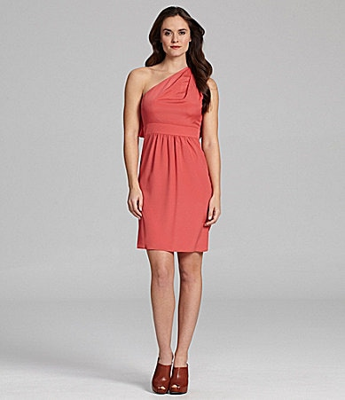Vince Camuto Pleated One-Shoulder Dress