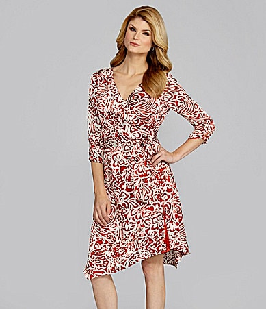 Antonio Melani Donata Scroll-Print Wrap Dress