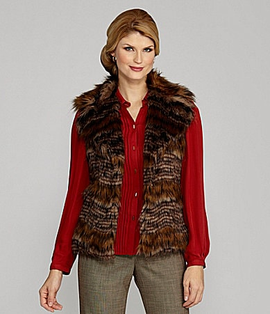 Antonio Melani Lark Sleeveless Faux-Fur Vest