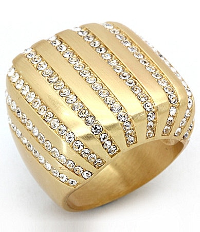 Glitterrings Striped Cubic Zirconia Statement Ring