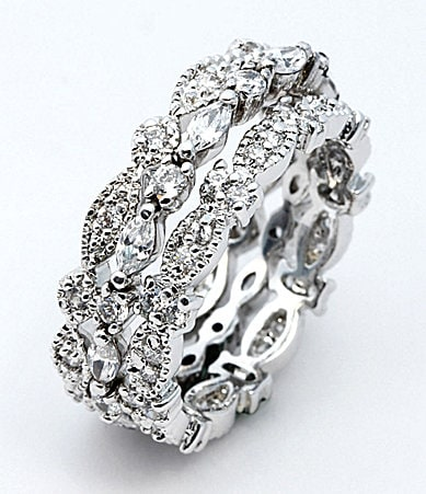 Glitterrings CZ Eternity Band Set