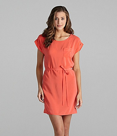 French Connection Shyanne Tie Waist Dress