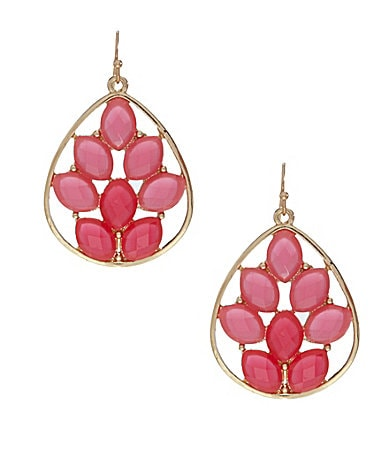 Anna & Ava Neon Geo Mosaic Teardrop Earrings