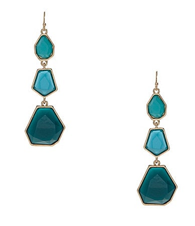 Anna & Ava Neon Geo Trio Drop Earrings