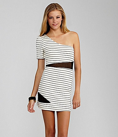 GB Striped Bodycon Dress