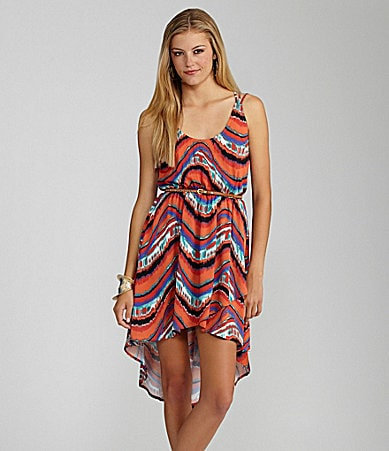 GB Printed Hi-Low Dress