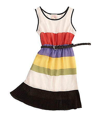 GB Girls 7-16 Sleeveless Pleated Bottom Dress