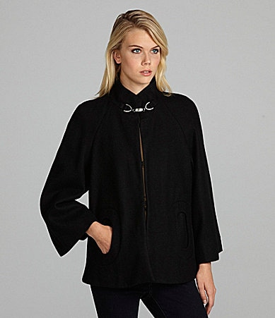 Betsey Johnson Wing-Sleeve Capelet Jacket
