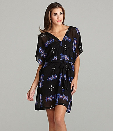 BB Dakota Celeste Flutter-Sleeve Dress