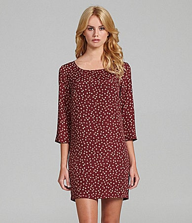 BCBGeneration Dot-Print Shift Dress