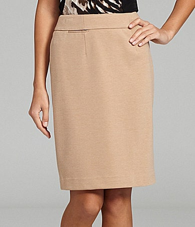 Calvin Klein Straight Ponte-Knit Skirt