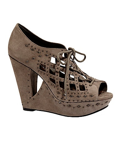Gianni Bini Georgette Jewel-Detail Wedges