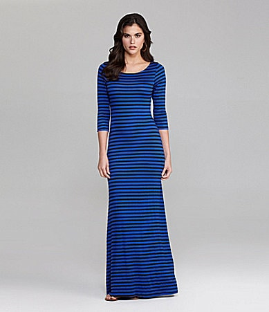 Gianni Bini Carmen Stripe Maxi Dress