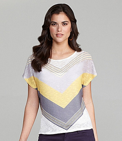 Gianni Bini Shiloh Chevron-Print Knit Top