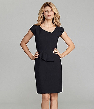 Antonio Melani Dora Cap-Sleeve Peplum Dress