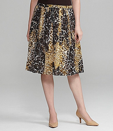 Alex Marie Woman Khloe Animal-Print Chiffon Skirt
