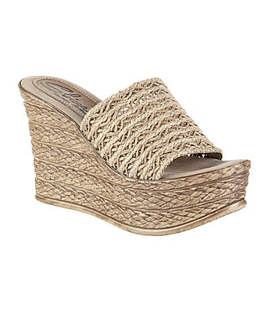 Sbicca Cabana Slip-On Wedge Sandals