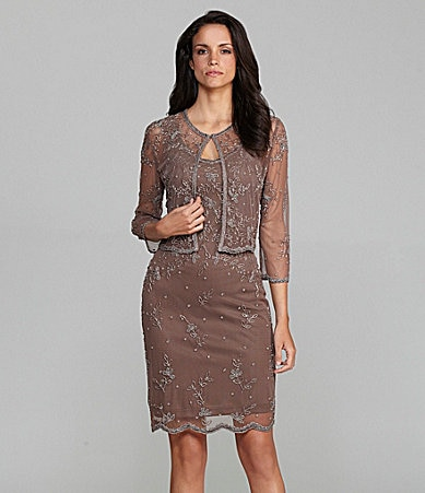 Scala 2-Piece Beaded Jacket Dress
