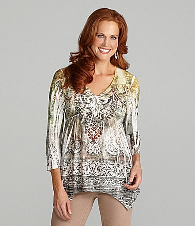 Reba Ivy Bouquet Sublimation Top
