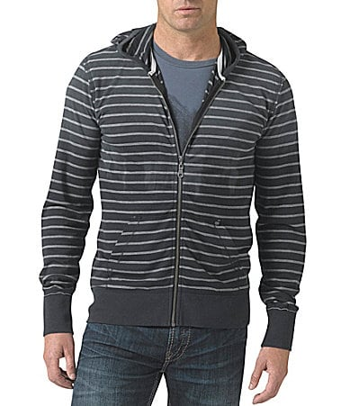 Silver Jeans Co. Zip-Up Striped Hoodie