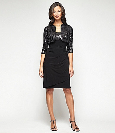 Alex Evenings Sequin Jacket Dress