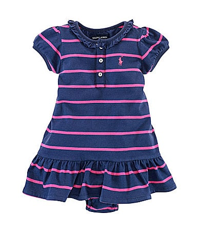 Ralph Lauren Childrenswear Infant Striped Henley Dress