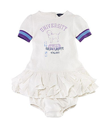 Ralph Lauren Childrenswear Infant Varsity Graphic Ringer Dress