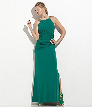 Laundry by Shelli Segal Beaded Jersey Gown