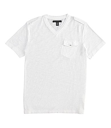 Kenneth Cole New York Double Layer Slub V-Neck Tee