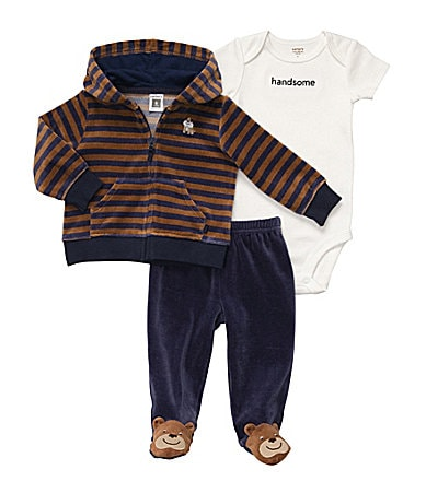 Carter�s Newborn 3-Piece Hooded Sweatshirt Set